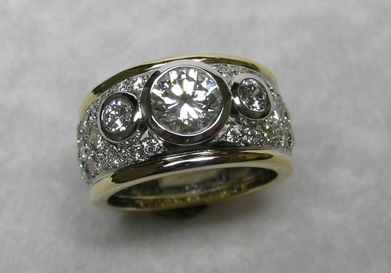 Platinum diamond ladies wedding ring michael s jewellery design