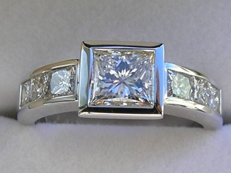 Two Tone Diamond Wedding Rings