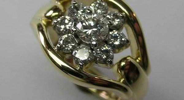 Diamond cluster dress ring