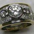 Round brilliant cut diamond dress ring
