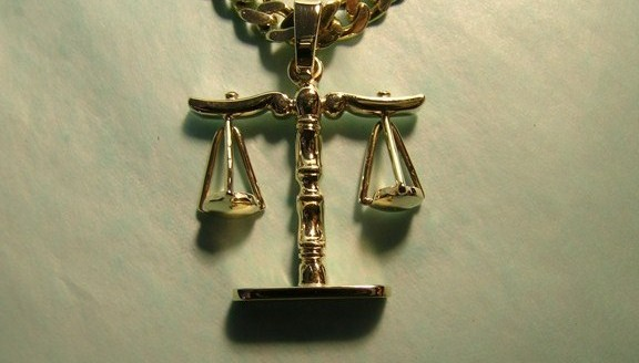 Scales of justice pendant