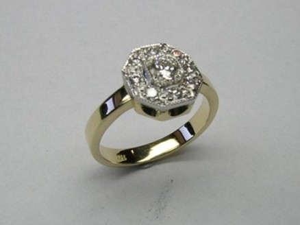 Antique style diamond ladies occasion ring