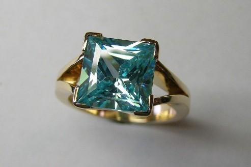 Blue topaz ladies dress ring