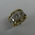 Exquisite handcrafted ladies diamond occasion ring