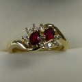 Ruby and diamond dress ring